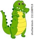 a crocodile mascot | Shutterstock .eps vector #211188913