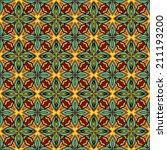 bright arabic pattern. seamless ... | Shutterstock .eps vector #211193200