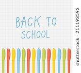 vector back to school...   Shutterstock .eps vector #211193593