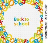 vector back to school... | Shutterstock .eps vector #211193809
