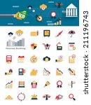 modern finance and money icon... | Shutterstock .eps vector #211196743