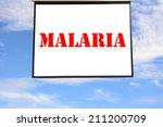 Write Malaria In The Hanging...