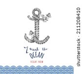 nautical illustration  with... | Shutterstock . vector #211208410