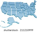 map of america usa with the... | Shutterstock .eps vector #211210999