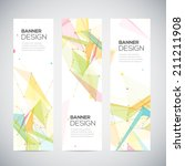 vector vertical banners set... | Shutterstock .eps vector #211211908