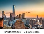 Lower Manhattan Skyline At...