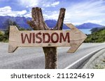 wisdom wooden sign with a... | Shutterstock . vector #211224619