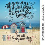 living at the beach   mixed... | Shutterstock .eps vector #211226278