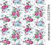 vintage floral background  ... | Shutterstock .eps vector #211227394