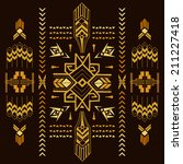 tribal vintage aztec background ... | Shutterstock .eps vector #211227418