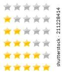 set of vector rating stars on...   Shutterstock .eps vector #211228414