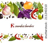realistic herbs and spices... | Shutterstock .eps vector #211240210