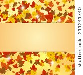 autumn vector background | Shutterstock .eps vector #211241740