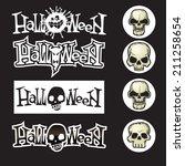 labels for halloween | Shutterstock .eps vector #211258654