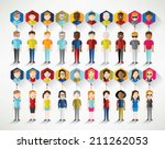 different social groups of... | Shutterstock .eps vector #211262053