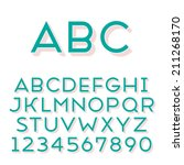 handmade sans serif font.... | Shutterstock .eps vector #211268170