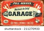 retro car service sign. vector...