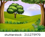 illustration of the trees at... | Shutterstock . vector #211275970