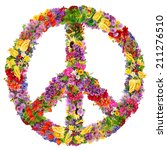 peace symbol abstract collage... | Shutterstock . vector #211276510