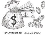 save money | Shutterstock .eps vector #211281400