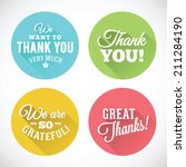 thank you abstract vector flat... | Shutterstock .eps vector #211284190