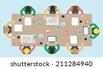 meeting  office  teamwork ... | Shutterstock .eps vector #211284940