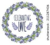 elegant floral hyacinth frame ...   Shutterstock .eps vector #211287436