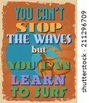 retro vintage motivational... | Shutterstock .eps vector #211296709