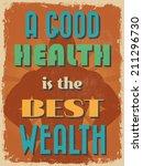 retro vintage motivational... | Shutterstock .eps vector #211296730