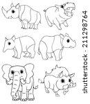 hand drawn animal set 2 | Shutterstock .eps vector #211298764