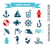 water icons | Shutterstock .eps vector #211302508