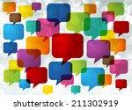 colorful modern speech bubble... | Shutterstock .eps vector #211302919