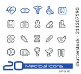 medical icons    line series | Shutterstock .eps vector #211307590