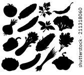 vegetables icons set black... | Shutterstock . vector #211318060