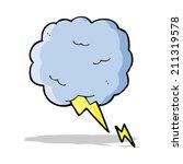 cartoon thundercloud symbol | Shutterstock .eps vector #211319578