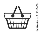vector shopping cart black icon