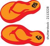 flip flop illustration | Shutterstock .eps vector #2113228
