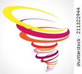 abstract tornado storm  | Shutterstock .eps vector #211322944