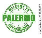 welcome to palermo  city of... | Shutterstock .eps vector #211323226