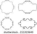 set of floral vintage frames | Shutterstock . vector #211323640