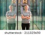 young beautiful business woman... | Shutterstock . vector #211325650