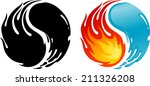 fire water of yin yang symbol   Shutterstock .eps vector #211326208