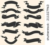vector set of ribbons for your... | Shutterstock .eps vector #211327963