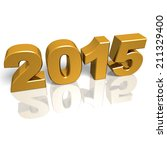 golden new year 2015 with... | Shutterstock . vector #211329400