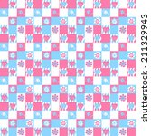 seamless checkered pattern with ... | Shutterstock .eps vector #211329943