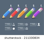 back to school concept flat... | Shutterstock .eps vector #211330834