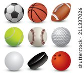 sport balls on white background.... | Shutterstock .eps vector #211337026