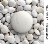 big white stone laid on a pile... | Shutterstock . vector #211337983
