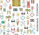 vector freehand drawn travel on ... | Shutterstock .eps vector #211344244