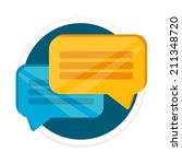vector chat flat round icon